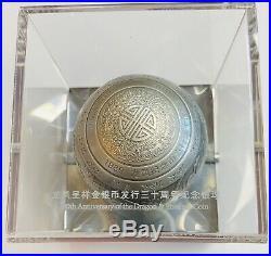 1 Kilo 30th Anniversary Dragon & Phoenix Silver Coin Sphere/Ball 1000 Grams New