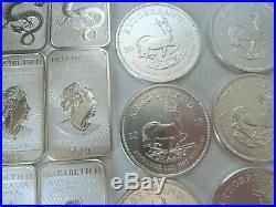 1 Kilo 32 OUNCES SILVER bullion 32x 1 oz Britannia Krugerrand Dragon bars 2019