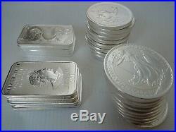1 Kilo / 32 OUNCES SILVER bullion 32x1oz Britannia Krugerrand Dragon bars No VAT