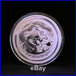 1 Kilo 999 fine Silver Coin, Year of the Dragon 2012, Perth Mint Bullion