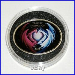 1 $ Silver Coin Year Of The Dragon 2012 Niue Island Dragon Love