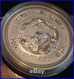 1 oz Silver Dragon Australian Lunar Series I Year 2000