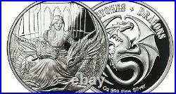 1 oz Silver Round Anne Stokes Dragon's VERY RARE 6TH & FINAL Coin Fierce Loyalty