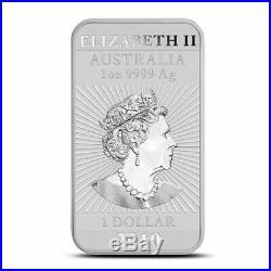 10 2019 1 oz. 999 Fine Silver Bars Australia Dragon Bar Coin-Uncirculated