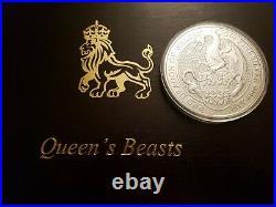 10 Oz Queen's Beast Red Dragon 2018.9999 Fine Silver Coin RARE Royal Mint Coin