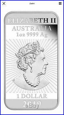 10 X2019 1oz Silver Rectangular Dragon Bullion Coins In Plastic Pouches 9999 Ag