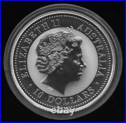 10 oz 2000 Perth Lunar One DRAGON Silver Coin