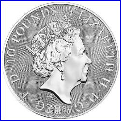 10 oz 2018 Royal Mint Queen's Beasts Red Dragon of Wales Silver Coin