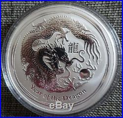 10 oz Lunar II silver coin 2012 Year of the Dragon rare