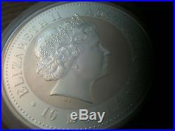 10 oz. Silver Dragon Australian Lunar Series I Year 2000