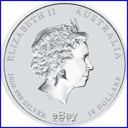 10oz 2012 Australia Lunar Series II Year of the Dragon Silver Bullion Coin