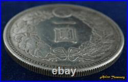 1886 Japan Year 19 One 1 Yen 900 Silver Dragon Crown Coin Meiji Y#a25.2 Vf/xf