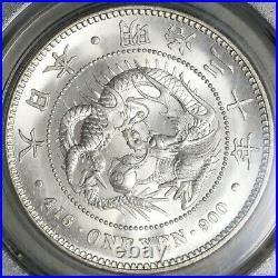 1897 PCGS MS 63 Japan M30 Yen Silver Dragon Meiji Coin (21021904C)