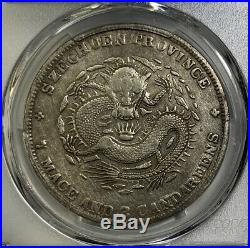 1901 China Szechuan Silver Dragon Dollar Coin PCGS VF, Low grading, See Scale