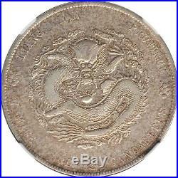 1902 China Kiangnan Silver Dollar Dragon Coin NGC L&M-248 XF Cleaned