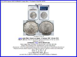 1903 JAPAN Emperor MEIJI & DRAGON Antique Silver 1 Yen Japanese Coin NGC i88759