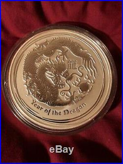 1kg Solid Silver 999 Coin. Lunar Series 2012 Year Of The Dragon