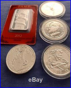 1oz. 999 Silver Ounce Bullion Coin Collection Libertad Dragon Valiant 2oz Yale