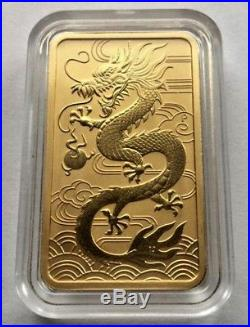 1oz Dragon Gold Coin Bar from Perth Mint LAST FEW LEFT HOT OFFER