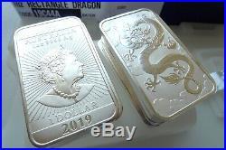 1oz silver bullion bars Australian Dragon 1 ounce coin bar, Mint Tube 20 x 2019