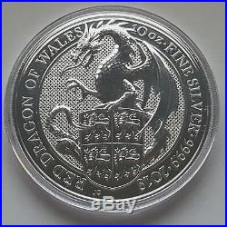 2 LOTS 2018 SILVER The Valiant (10 oz) + Red Dragon of Wales (10 oz) BU Set