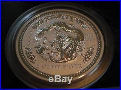 2 oz Silver Dragon Australian Lunar Series I Year 2000