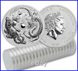 (20) 2018 1 oz BU $1 Australian Dragon & Tiger. 9999 Silver Coin (20 Oz Roll)