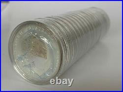 20 Coin Roll of 2012 Australian Lunar Year of the Dragon 1 oz Silver Coins
