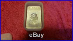 20 Oz 2019 Australian Dragon Bars Silver Coin Full Tube Uncirculated #5