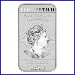 20 x 2020 1 oz $1 AUD Australia 9999 Fine Silver Rectangle Dragon Coin-Bar