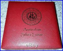 2000 1 Kilo (series 1) Silver 999 Lunar Year of Dragon BU Australian Perth Mint