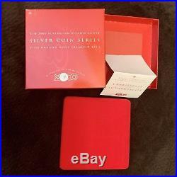 2000 AUSTRALIAN LUNAR. 999 Silver Coin KILO DRAGON Diamond Eye ORIGINAL BOX COA