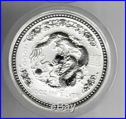 2000 Australia Year of the Dragon Lunar Series $10 10oz Silver Coin