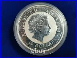 2000 Australian Lunar DRAGON $10.999 Silver 10 Oz Coin Perth Mint Australia
