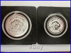 2000 Australian Lunar Year Of The Dragon Silver Coins Bu
