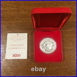 2000 Lunar Year of The Dragon 1oz Silver Proof Coin Australia Perth Mint