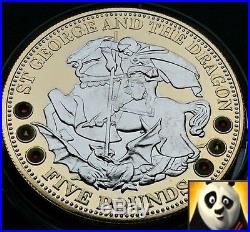 2008 Tristan Da Cuhna TDC £5 Five Pounds St George and Dragon Silver Proof Coin