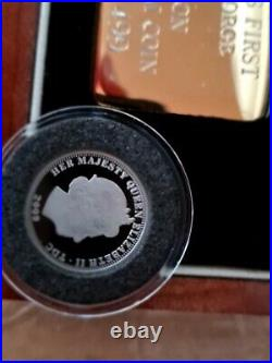 2009 ST GEORGE & DRAGON PLATINUM £5 PROOF COIN MINTAGE 33 of 499