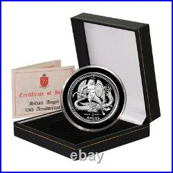 2010 Isle of Man Archangel Michael slaying the Dragon Proof Silver coin