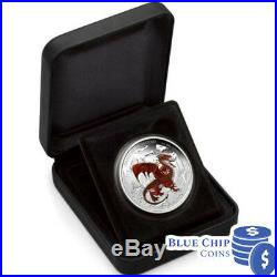 2012 $1 Dragons of Legend Red Welsh Dragon 1oz Silver Proof Coin
