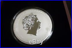 2012 1 Kilo Silver Lunar Year of The Dragon BU Australian Perth Mint In Box