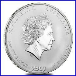 2012 1 Kilo Silver Lunar Year of The Dragon BU Australian Perth Mint In Cap