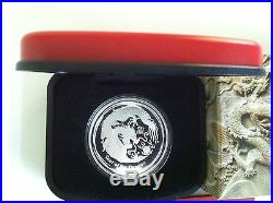 2012 $1 YEAR OF THE DRAGON 1oz SILVER PROOF COIN NUMBERED420