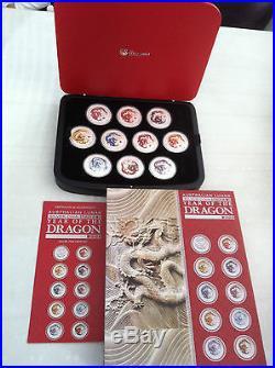 2012 $1 Year of the Dragon 1oz 10 COIN SET Aust Lunar SERIES