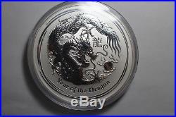 2012 10 oz. 999 Silver Lunar Year of The Dragon Bu Coin