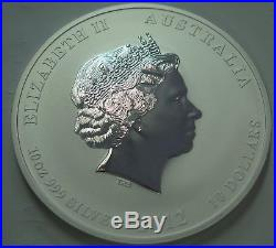 2012 10 oz Silver Australian $8 Lunar Dragon Coin