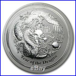 2012 10 oz Silver Perth Mint Lunar Year of the Dragon Coin LOW MINTAGE