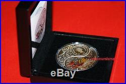 2012 2 x $1 Lunar Yin & Yang Fiji oz Silver Coin Year of the Dragon COA Box