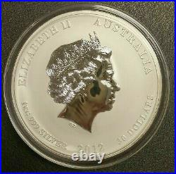 2012 $30 Australia Lunar Dragon 1 Kilo Colorized Silver Zodiac Bullion Coin
