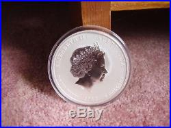 2012 5 oz Silver Australian Year of the Dragon Coin BU